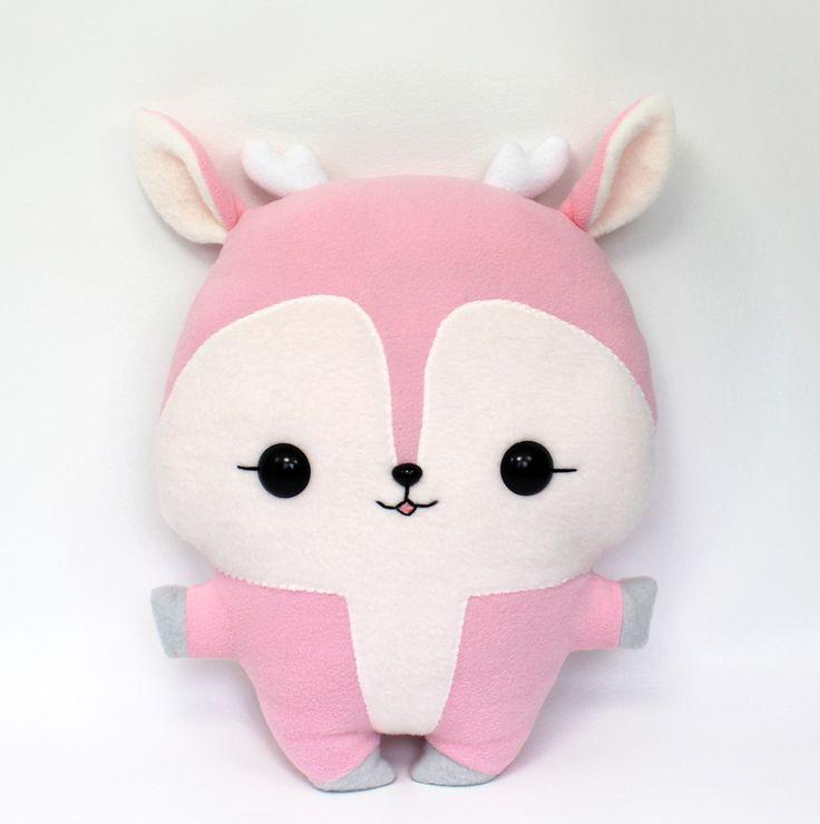 Squishy Bunny Pillow : Anime Plushie Pattern deer kawaii pillow plushie by teacuplion artisan crafts dolls plushies ...
