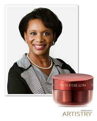 """THANKS, MOM: Amway CMO Candace Matthews said her mom told her to moisturize, moisturize, moisturize! """"Using a cream today will help make sure you don't have skin like an elephant tomorrow."""""""