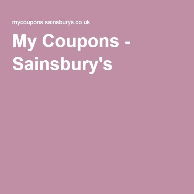 My Coupons - Sainsbury's