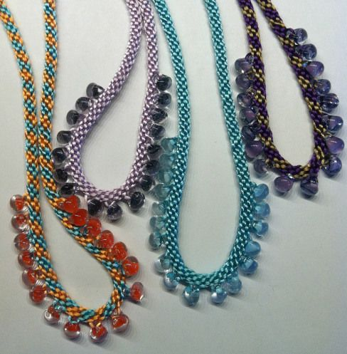 Teardrop Necklaces and lots of other kumi ideas and kits