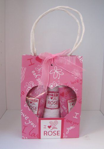 I Love You Rose- Bath Gift Set- Hand Wash- Lotion- Towel by Freida and Joe. Save 67 Off!. $9.99. Towel. Rose Love Scent. 100Ml Hand Lotion. I love you paper bag with bow. 100Ml Hand Wash. This I love you gift set is a perfect valentine's gift! The rose scent makes you feel loved and warm. It will make your spouse, friend, grandparents, form a big smile on their face when they receive this thoughtful gift.