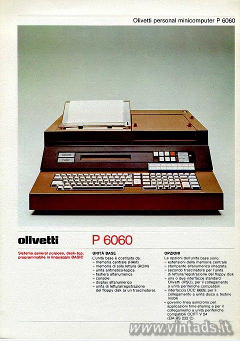 Olivetti personal minicomputer P 6060, 1977
