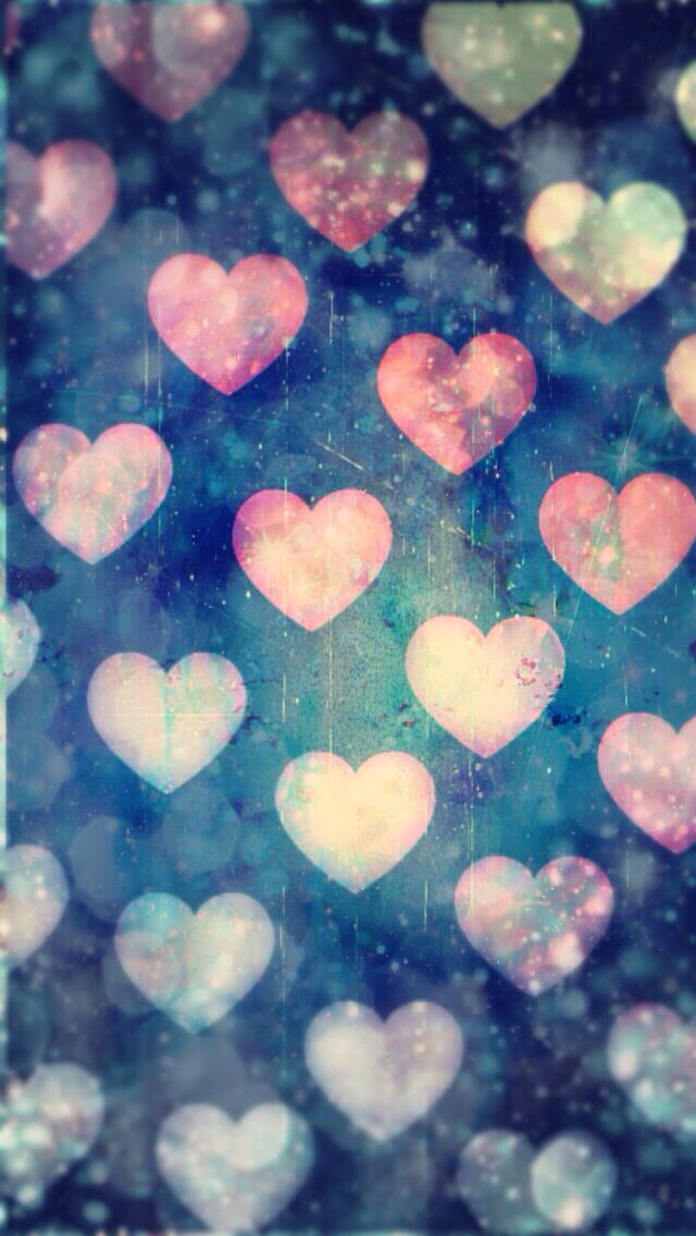 cute hearts iphone wallpaper