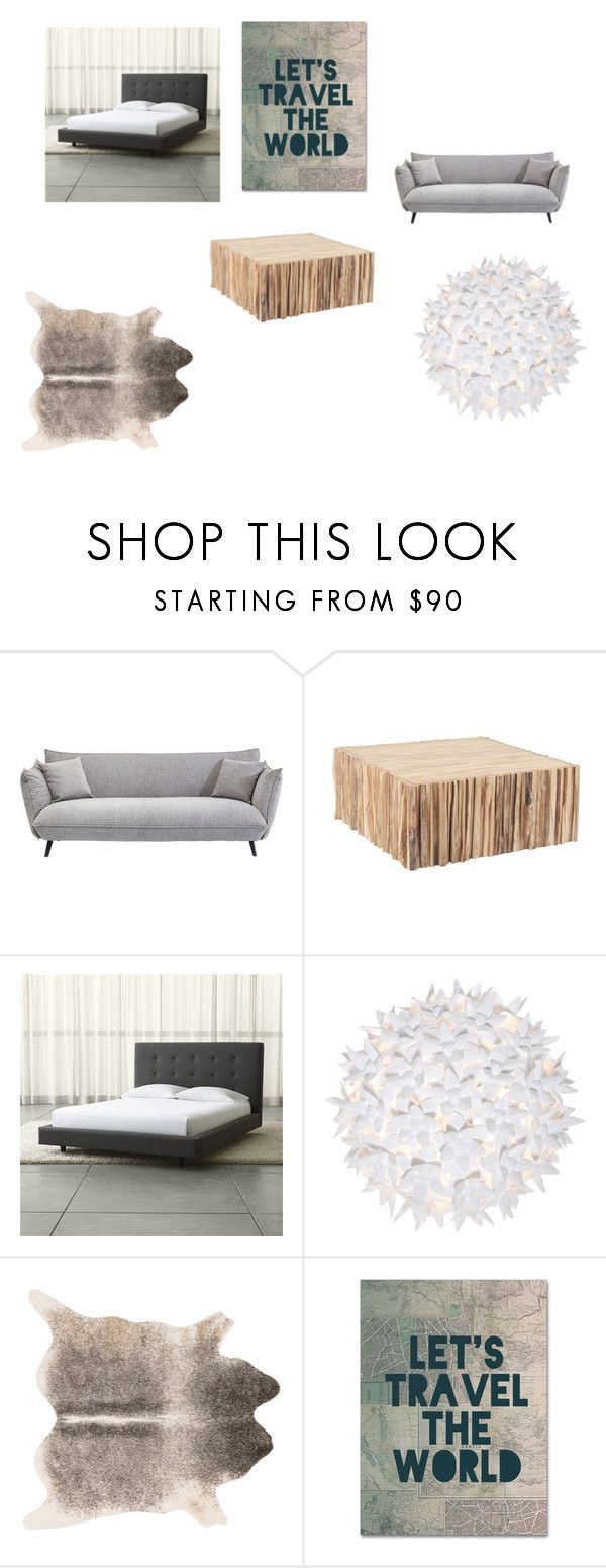 """""""Bedroom :)"""" by danielle-bff-renee on Polyvore featuring Crate and Barrel, Kartell, Dot & Bo, Trademark Fine Art and bedroom"""