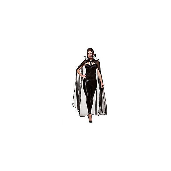 Adult Sheer Vampire Cape ❤ liked on Polyvore featuring outerwear, long neckties, long cape, neck ties, long white cape and white cape coat