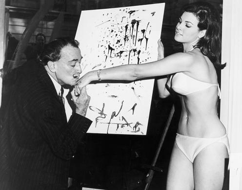 Salvador Dali and Raquel Welch