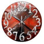 006, Leather Western, Brown Red, Rancheria Print Large Clock  #Brown+ #Clock #Large #leather #Print #Rancheria #RusticClock #western The Rustic Clock
