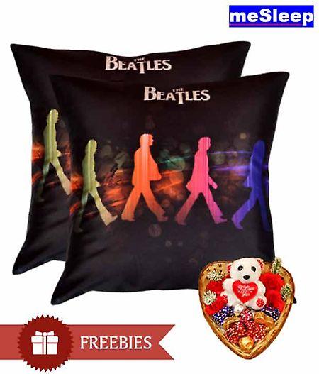 Set Of 2 Beatles Cushion Covers @ Memoirs