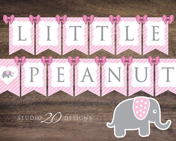 Instant Download Pink Elephant Baby Shower por Studio20Designs