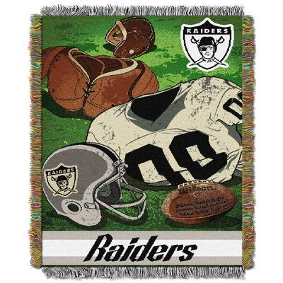 Northwest Co. NFL Raiders Vintage Tapestry Throw