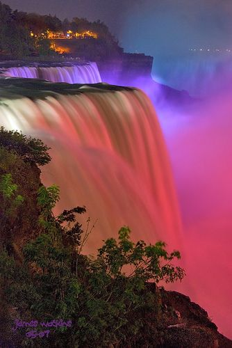 The Falls and Lights by JamesWatkins, via Flickr