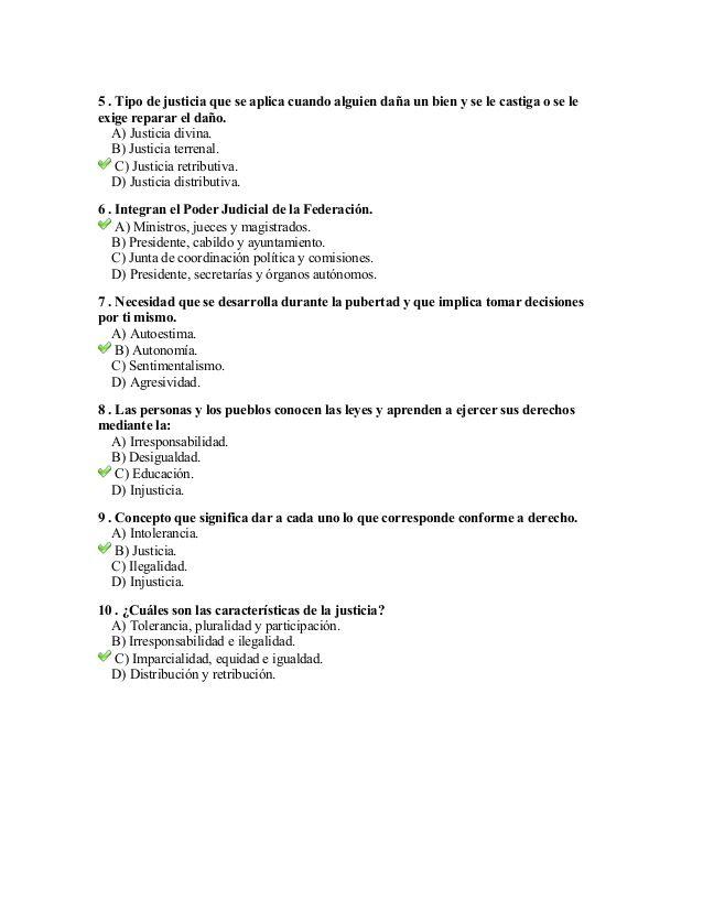 Examen De Formacion Civica Y Etica Contestado Formacion Civica Y Etica Examen Actividades Educativas