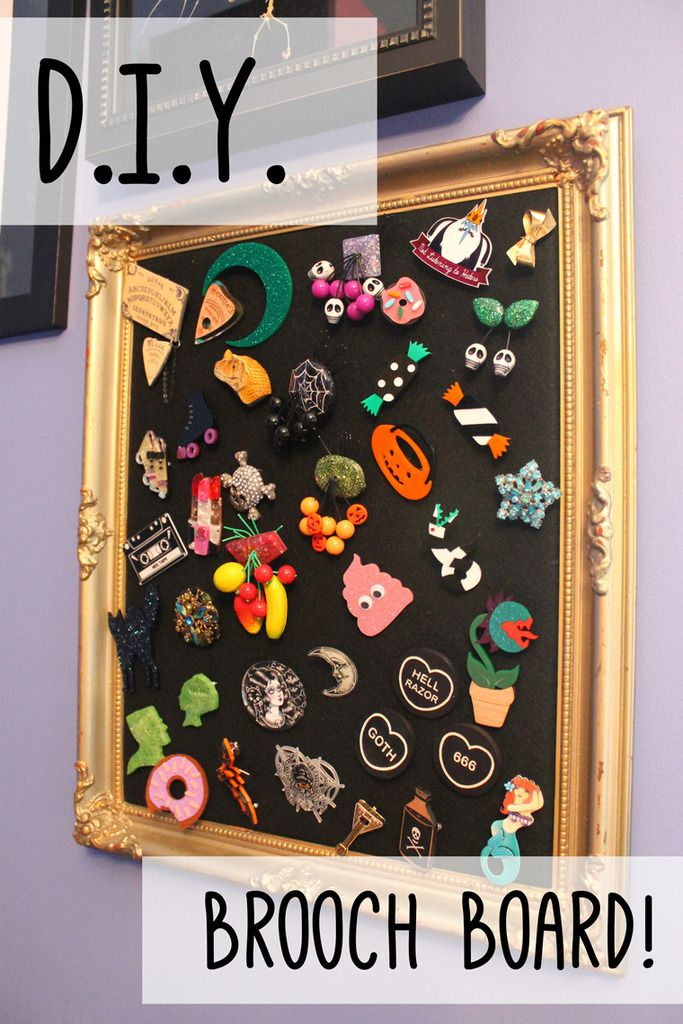 Brooch Board DIY Tutorial on Betties N Brimstone Blog