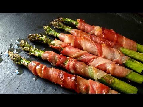 Espárragos al horno con jamón - Anna Recetas Fáciles