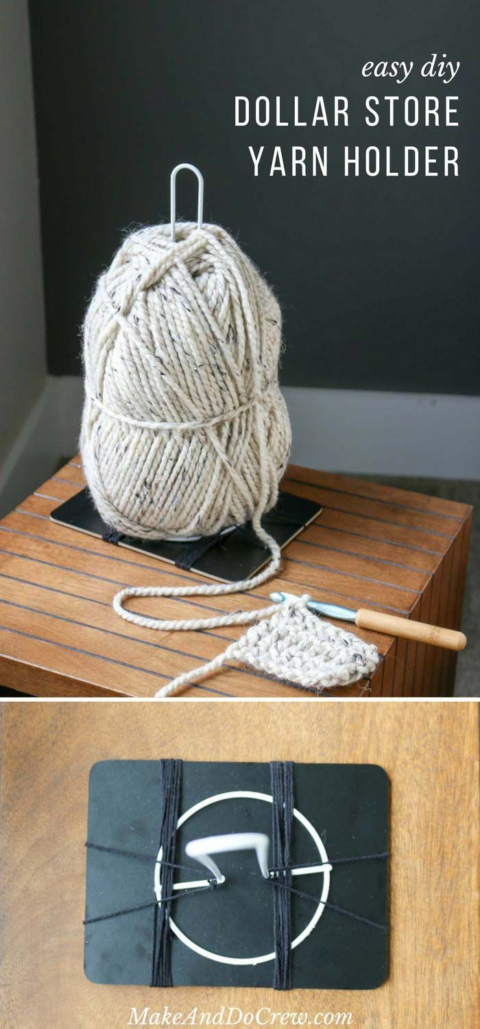 Inexpensive Diy Yarn Holders From Household Items Crochet Tips And