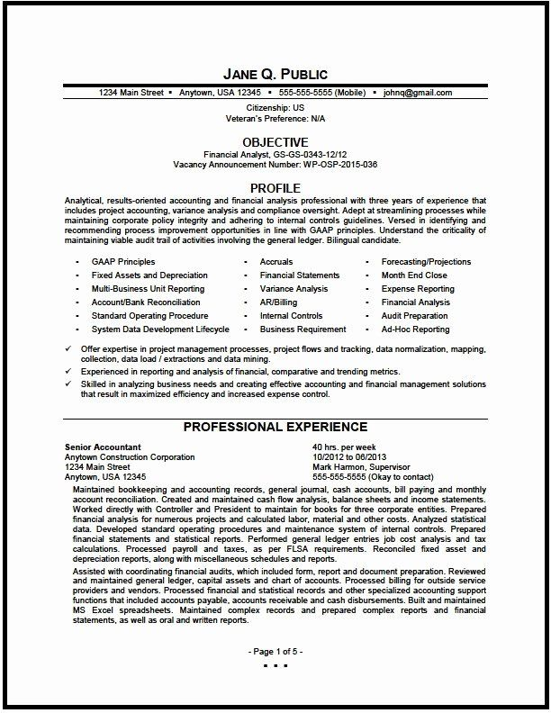 Financial Analyst Resume Examples Best Of Program Analyst Resume