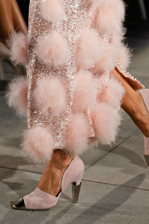 IDDDDDDDPink Haute Couture ~ #fur #sequins #fashion