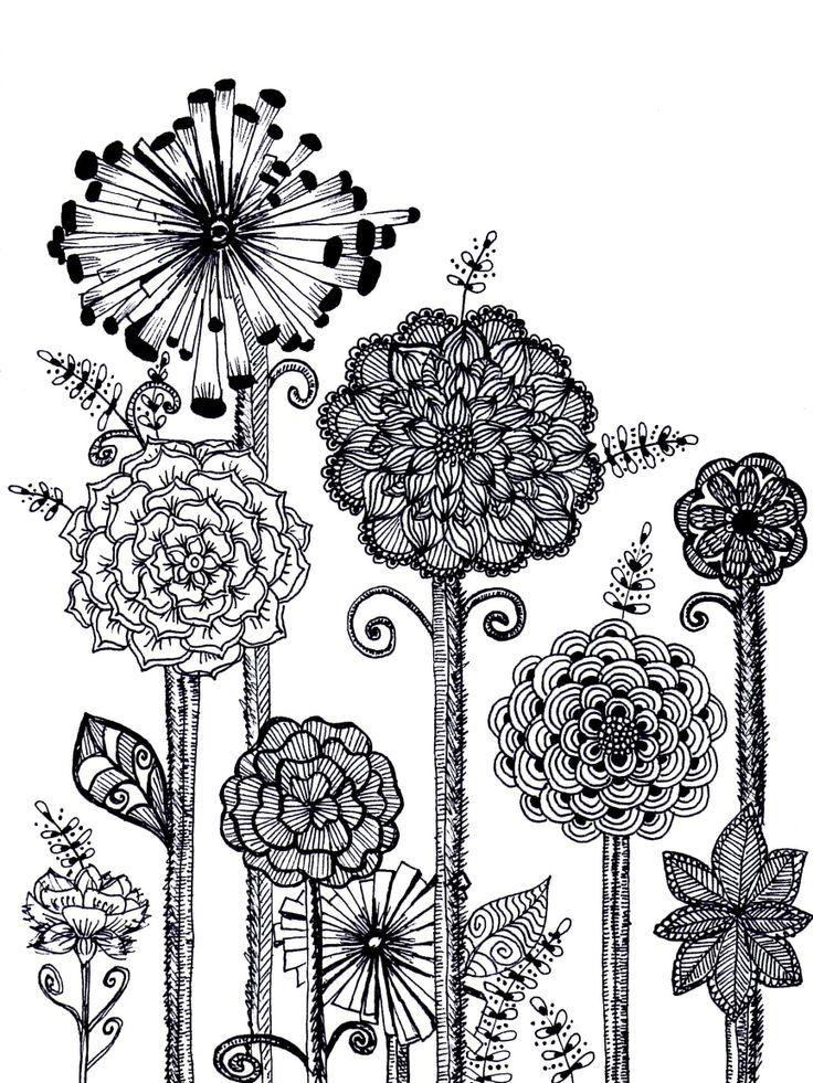 Zentangle Flower Patterns - Bing Images