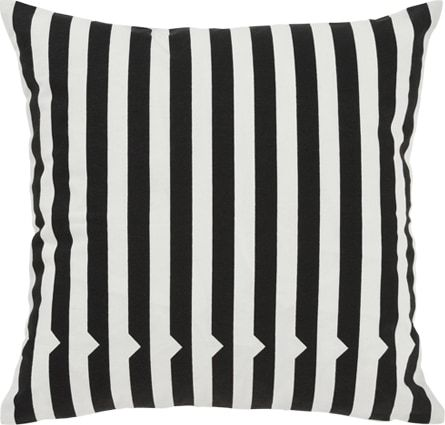Vico Mono Stripe Cushion 45 x 45 cm, Black and White from Made.com. White/Black. Express delivery. Simple. Unfussy. In black and white. If only life..