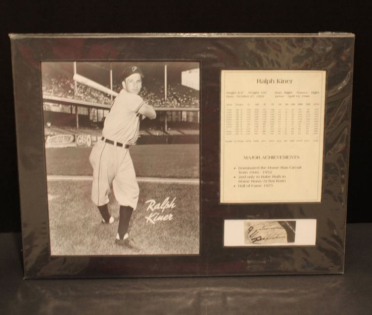 Vintage Baseball Ralph Kiner Matted Picture Montage, Cut Signature, Black and White photo,  Authenticated, Major Achievements by OldSportsMemorabilia on Etsy