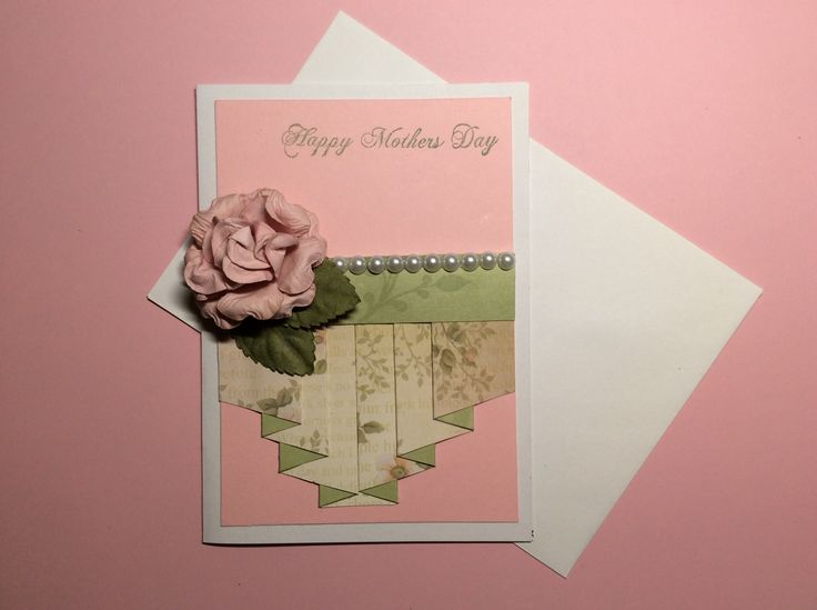 Pleated Mother's Day card