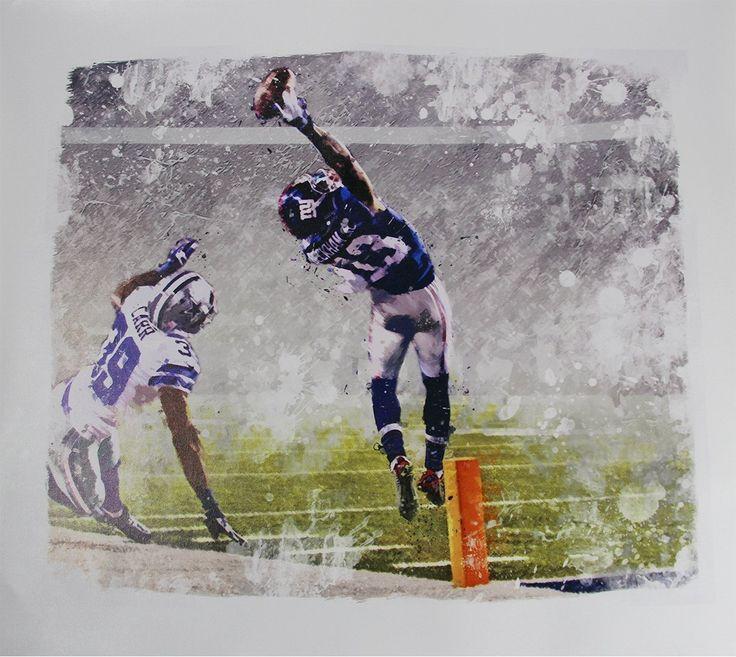 Odell Beckham Jr One-Handed Touchdown Catch Graphic 22x26 Canvas