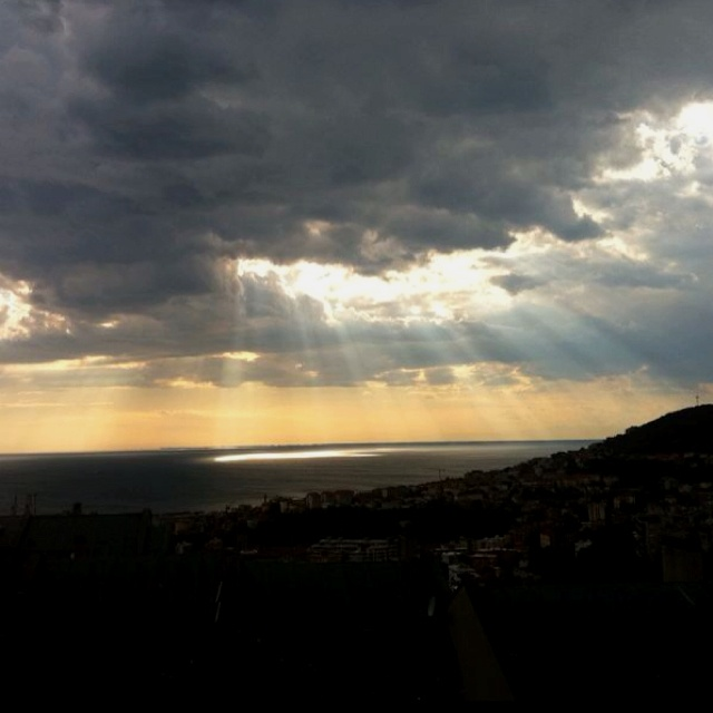 #trieste, Sun ray...