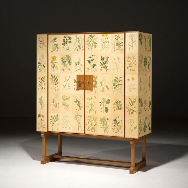 Josef Frank (1885-1967),  - Flora, Cabinet Acajou, bouleau et papier