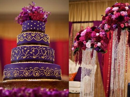 purple Indian wedding cakes