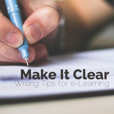 Use these writing tips for e-learning to create effective communication in your online training course. Keep your online training content clear!