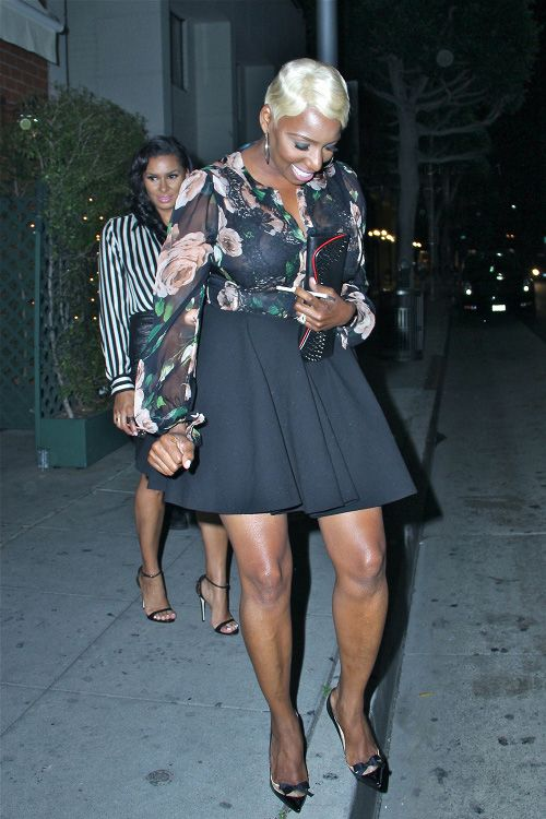 FashionBombDaily...Nene Leakes in Dolce & Gabbana's Floral Silk Blouse