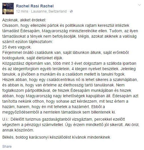 168 Óra Online - Orbán Ráhel: Saját erőnkből boldogulunk