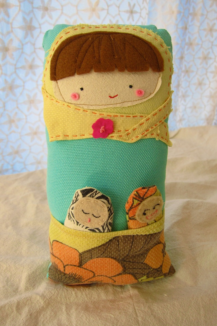 Mama Matryoshka with babies - Adorable gift for Mom or expectant mothers. $59.00, via Etsy.