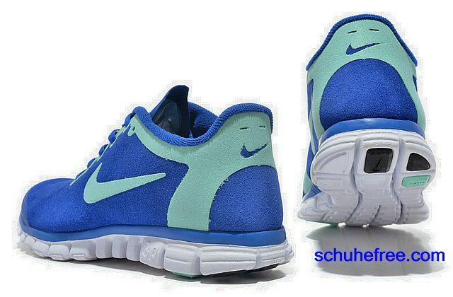 Damen Nike Free 3.0 V2 Anti -Pelz-Schuhe Konigsblau