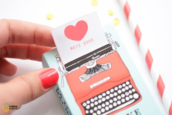 FREE printable Valentine's box