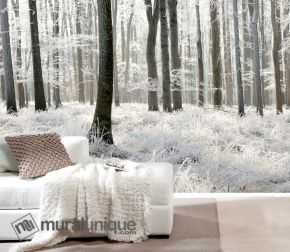 White Forest. A Wallpaper Mural by Muralunique.com.