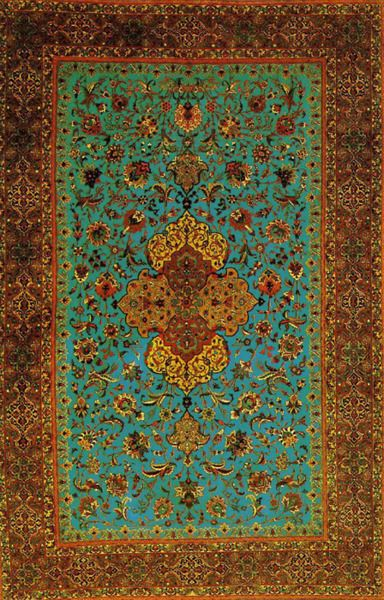 Great colours in this Persian rug to tie all the tones together but still keeping it eclectic.