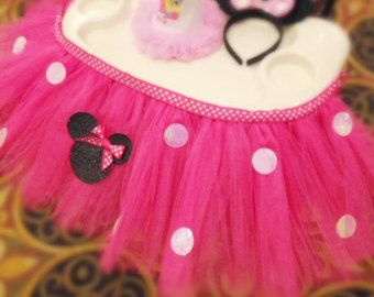 Minnie Mouse High Chair Tutu & Cover Tutu by FreckledStrawberrie