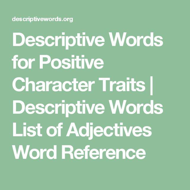 best 25 list of positive adjectives ideas on pinterest