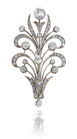 Een diamanten broche,ca.1890