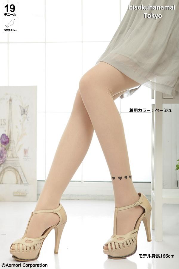 アンクルハートラインタトゥーストッキング(Ankle heart line tattoo stocking)(BD-13A004) JPY350-