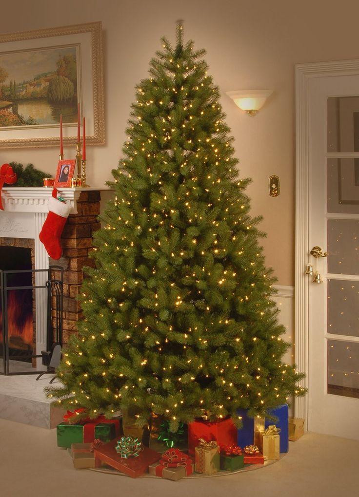 "Amazon green christmas tree National Tree 7.5 Foot ""Feel"