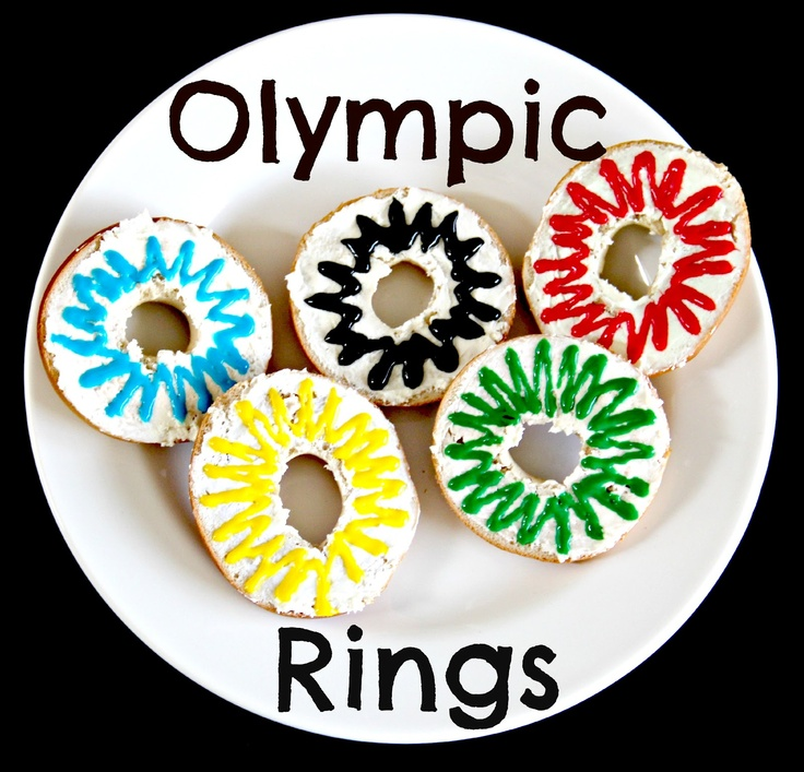 The Olympic Rings bagel treats