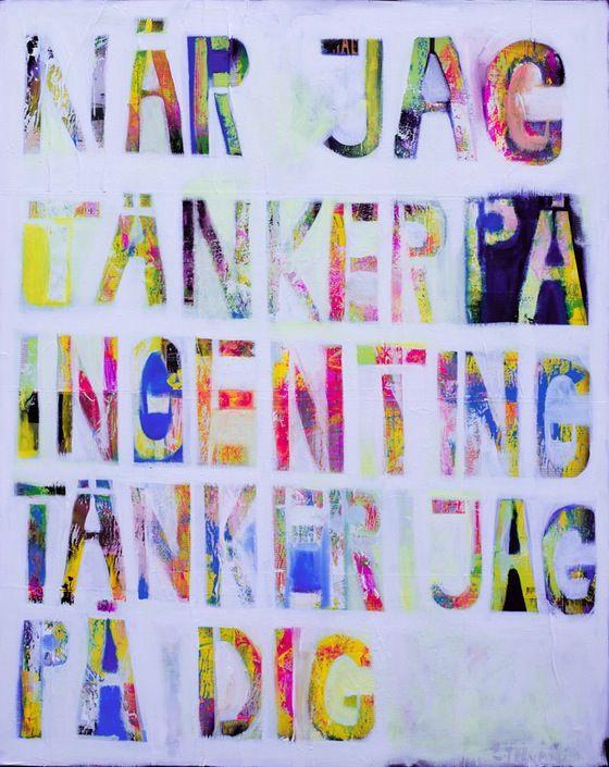 När Jag Tänker, by Swedish Artist Emma Tingård. Art, painting, art poster, art print