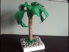 Palm tree. How to make a paper palm tree . Diy home decor, My Crafts and DIY Projects
