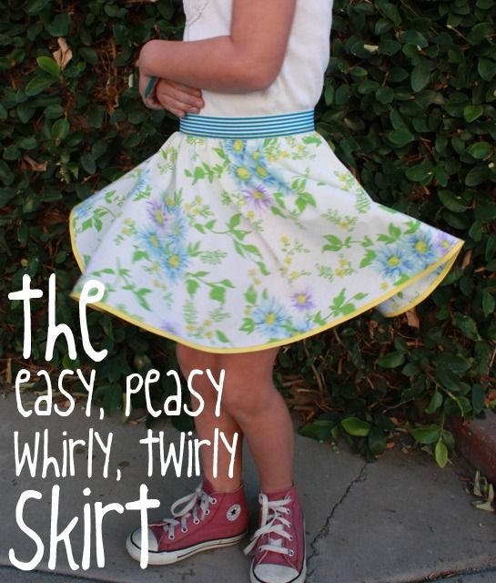 I have had a request to make twirly skirts by an adorable almost 3 year old. Maybe this will be my next project.