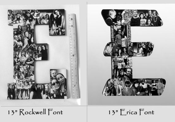 Custom  Photo Collage letter, vacation photos, sunset photos, Girlfriend gift – College dorm room de