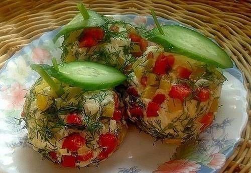 Салат «Новогодние шары» - рецепт с фото