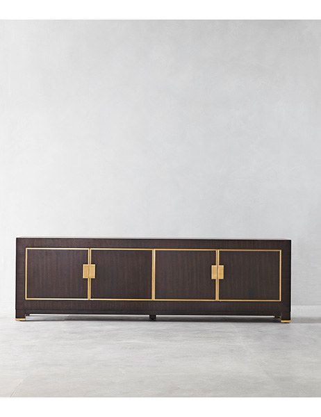 WOODEN SIDEBOARD | dark wood sideboard with brass details |www.bocadolobo.com #modernsideboard #sideboardideas