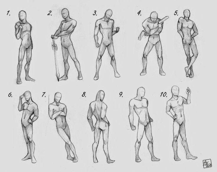 Stock Desenhos/Referencias: Referencia - Poses Femininas, Masculinas, Casal.